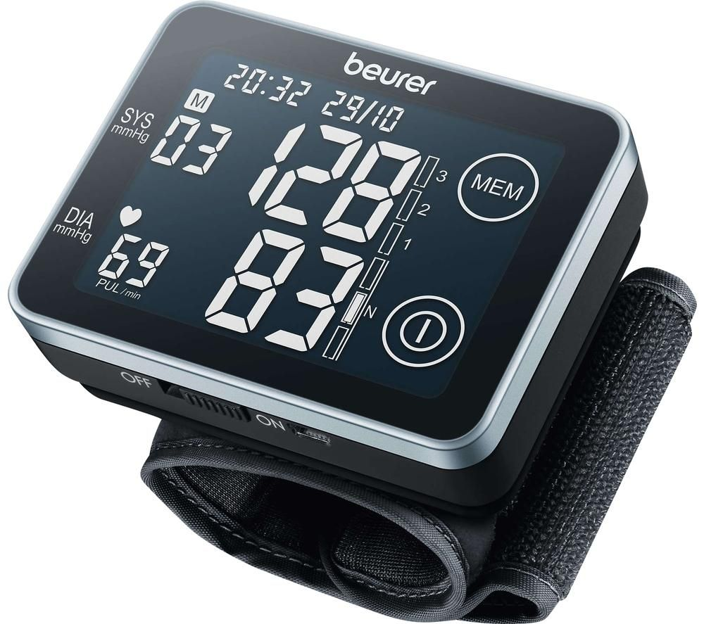 Image of BEURER BC 58 Wrist Blood Pressure Monitor - Black & Grey, Black