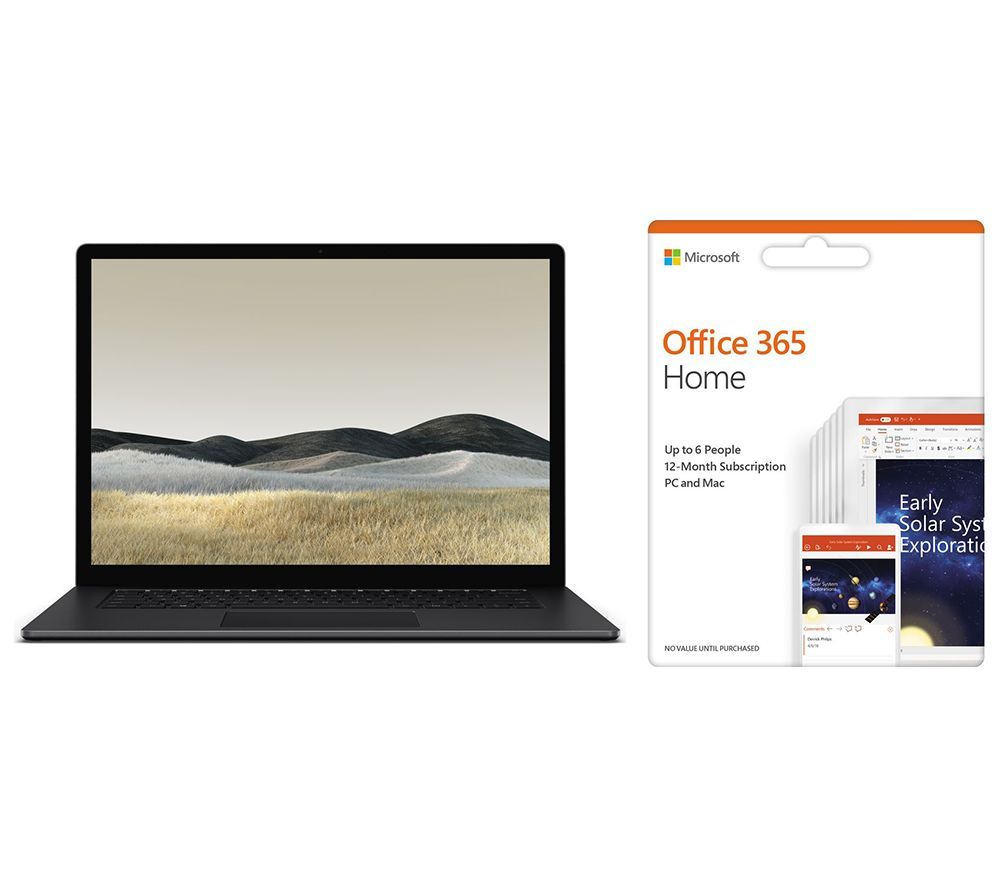 """Image of MICROSOFT Surface 3 15"""" AMD Ryzen 5 Laptop & Office 365 Home Bundle - 1 year for 6 users"""