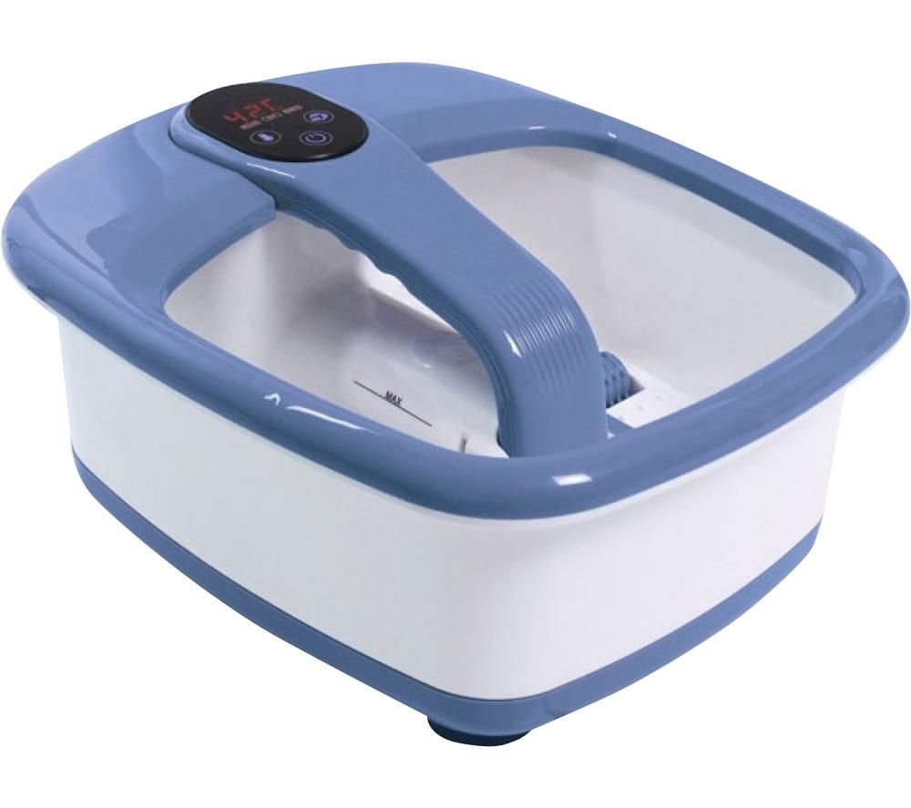 Image of FM-90-GB Luxury Foot Spa - Blue & White, Blue