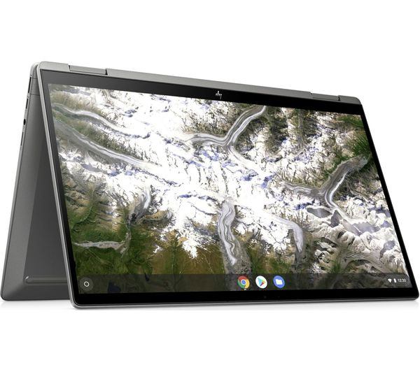 "Image of HP x360 14"" 2 in 1 Chromebook - Intel®Pentium™ Gold, 64 GB eMMC, Silver, Gold"
