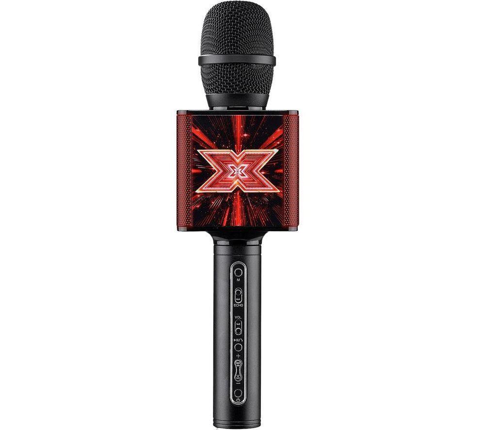 TOYRIFIC X Factor XF2 TY6013 Portable Bluetooth Karaoke Microphone Speaker - Red & Black, Red