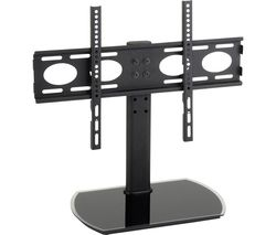 PED64F 470 mm TV Stand with Bracket - Black Glass