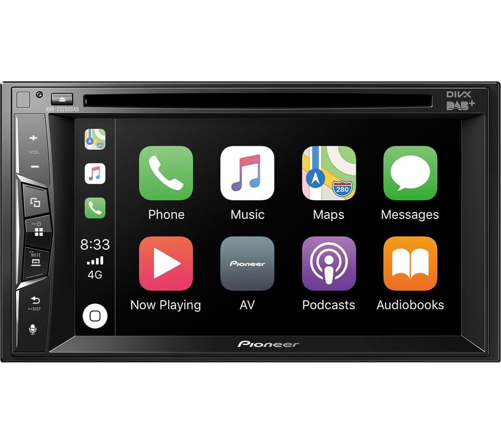 PIONEER AVH-Z3200DAB Smart Bluetooth Car Radio - Black, Black