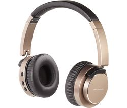 Aircoustic Premium Wireless Bluetooth Noise-Cancelling Headphones - Bronze