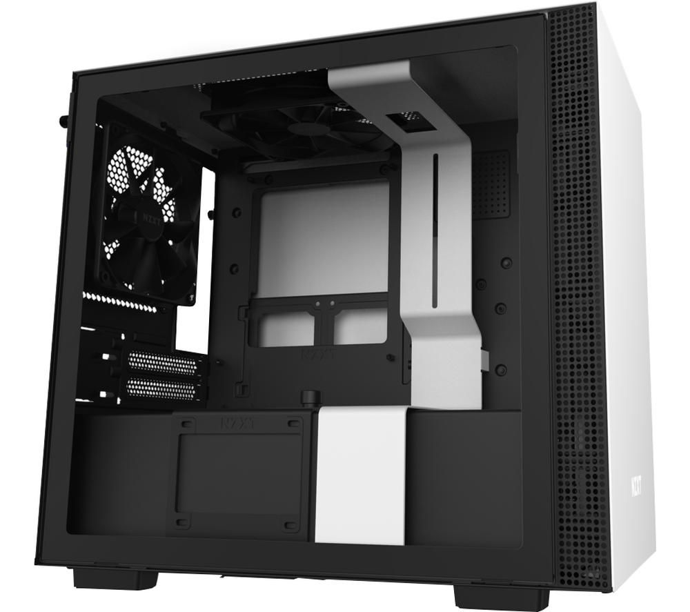 Image of NZXT H210i Mini-ITX Mid-Tower PC Case - White, White