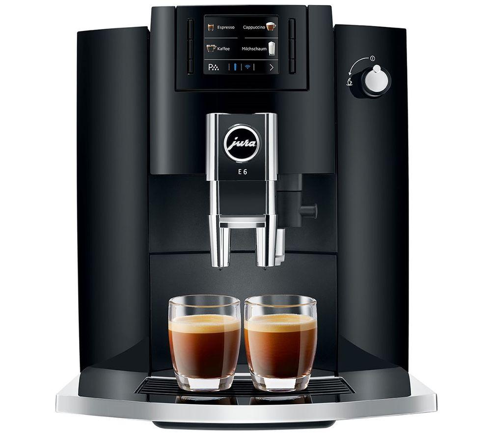 JURA E6 15350 Bean to Cup Coffee Machine - Black
