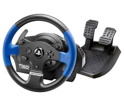 T150 Force Feedback Wheel & Pedals - Blue & Black