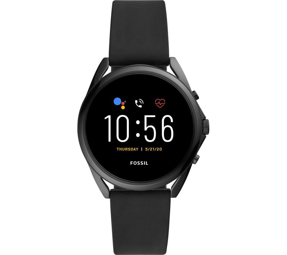 FOSSIL Gen 5 LTE FTW40533 Smartwatch - Black, Silicone Strap