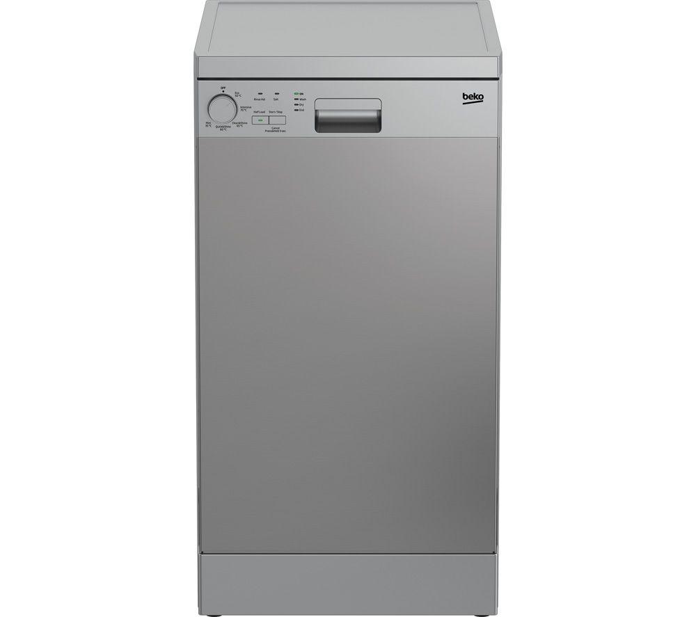 BEKO DFS05020X Slimline Dishwasher - Stainless Steel, Stainless Steel