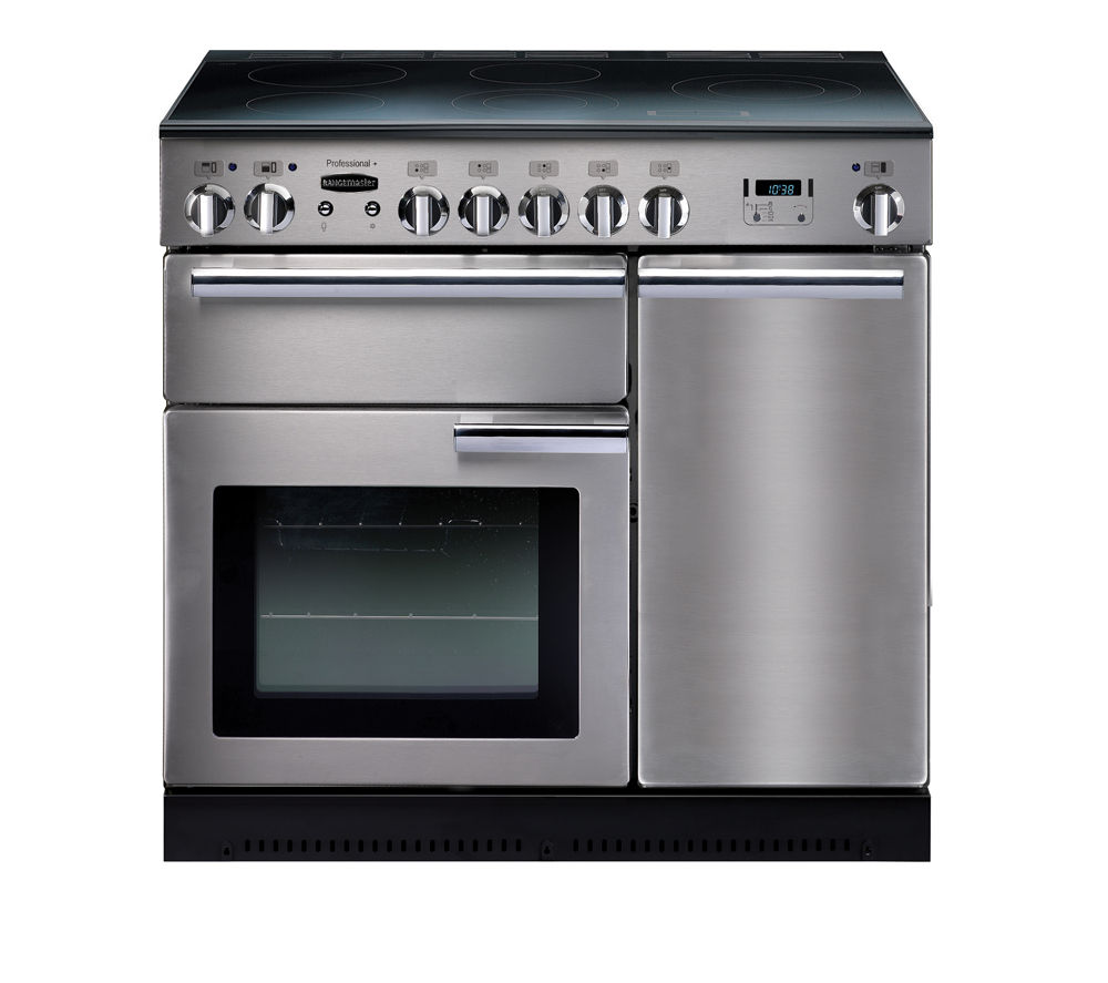Rangemaster Professional+ 90 Induction Range Cooker – Stainless Steel & Chrome, Stainless Steel