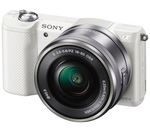 SONY a5000 Mirrorless Camera with 16-50 mm f/3.5-5.6 Lens - White