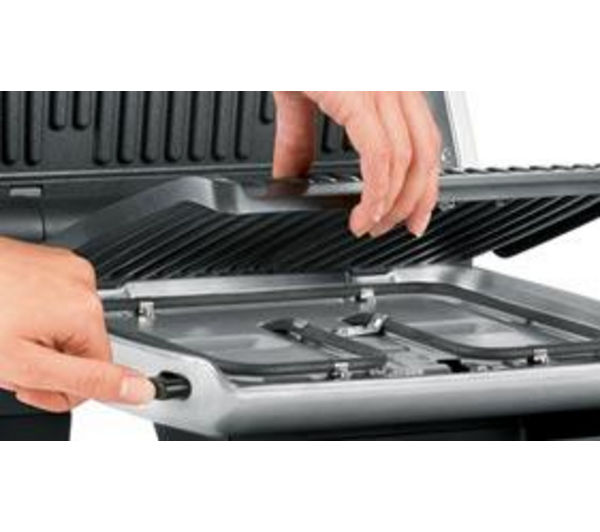 Gc701d40 tefal optigrill gc701d40 health grill stainless steel black currys pc world - Tefal raclette grill john lewis ...