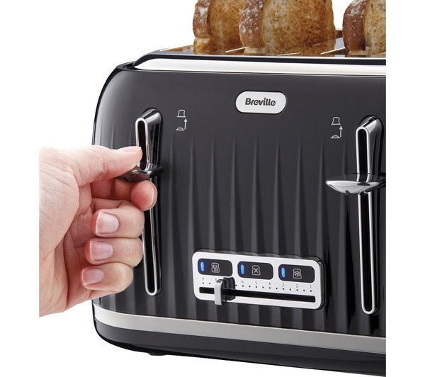 818e798097f1 Buy BREVILLE Impressions VTT476 4-Slice Toaster - Black | Free ...