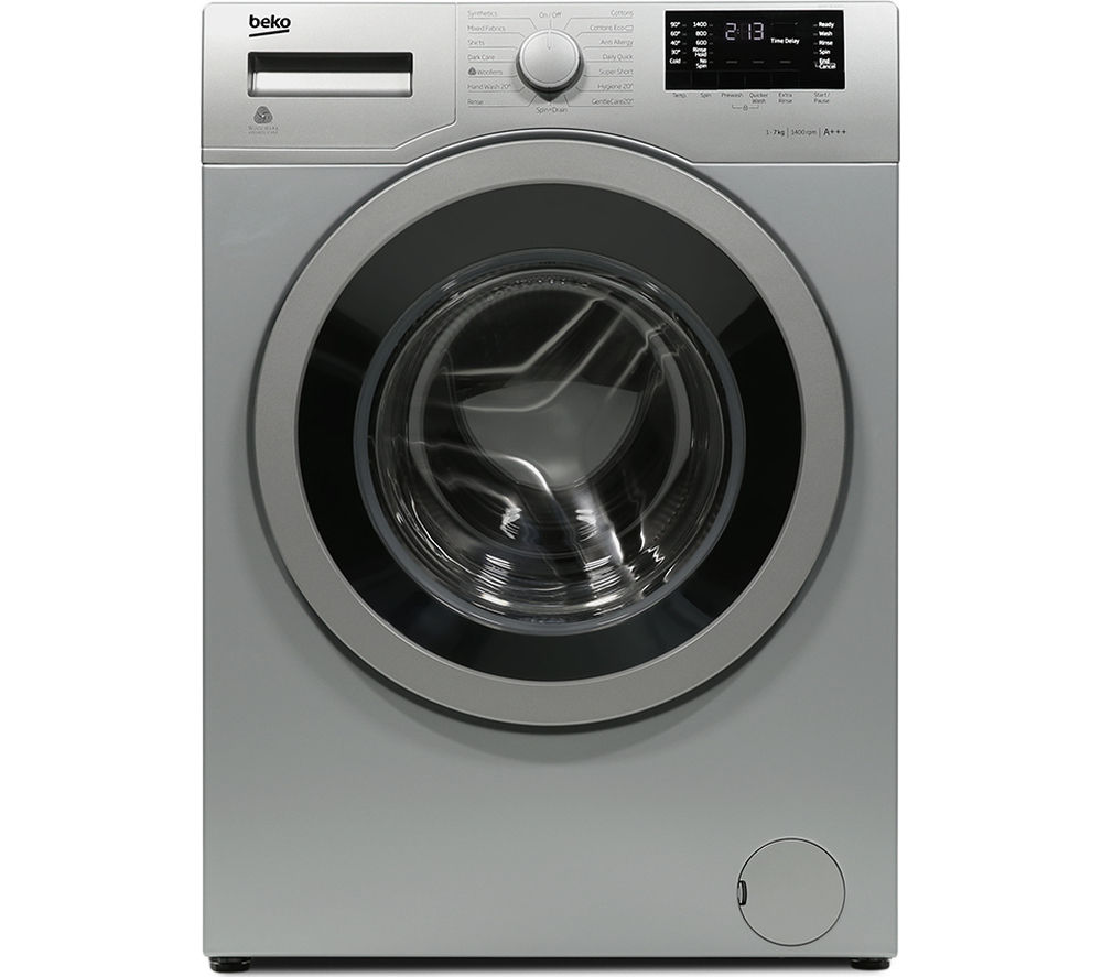 BEKO Pro WX742430S Washing Machine - Silver