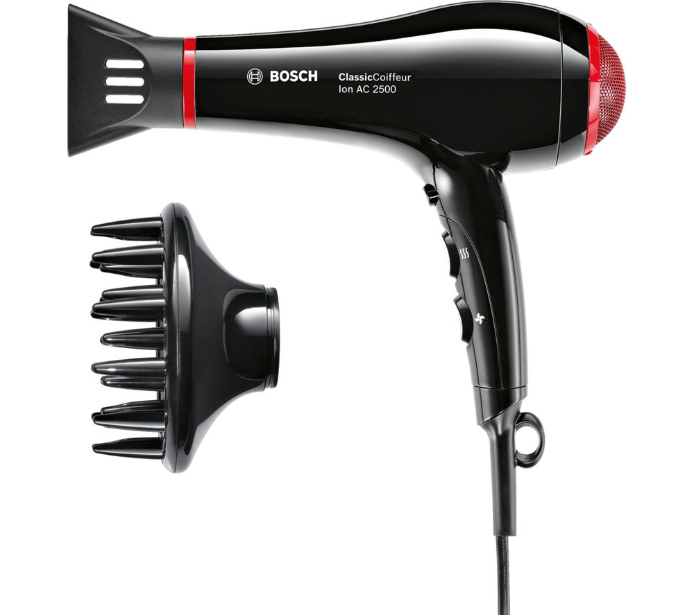 BOSCH ClassicCoiffeur Hair Dryer - Black & Red