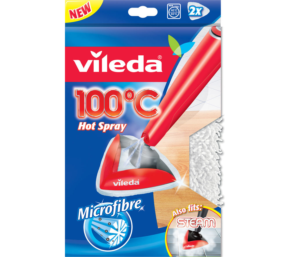 Image of VILEDA 100?C Hot Spray and Steam Microfibre Refill Pads