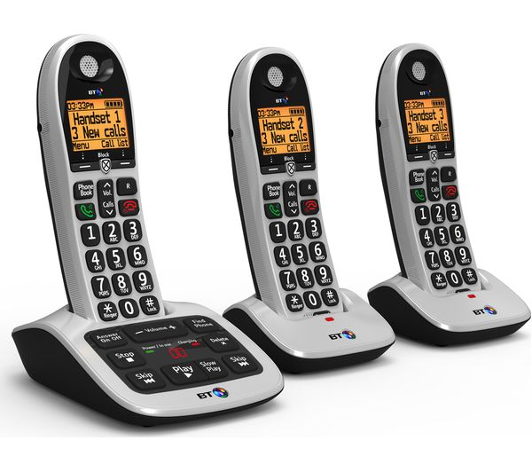 buy bt 4600 cordless phone with answering machine triple. Black Bedroom Furniture Sets. Home Design Ideas