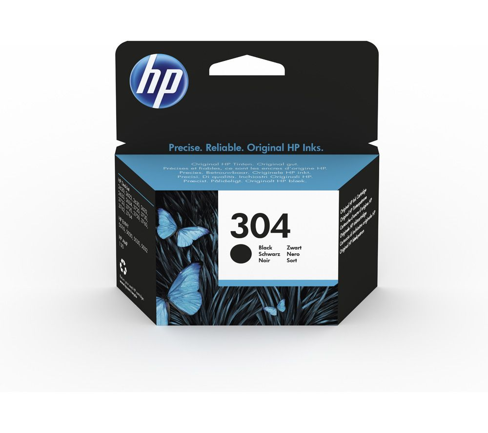 Buy Hp 304 Black Ink Cartridge Free Delivery Currys Tinta Canon Noir 1 Liter