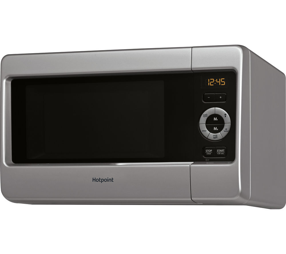 Image of HOTPOINT HD Line MWH 2422 MS Microwave with Grill - Silver, Silver