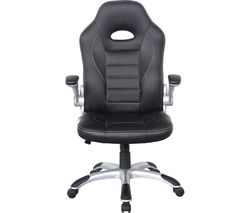 ALPHASON Talladega Faux-Leather Tilting Executive Chair - Black
