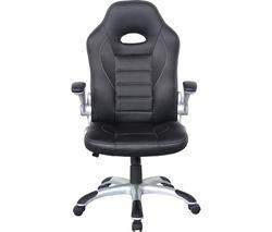 ALPHASON Talladega Faux-Leather Tilting Executive Chair - Black