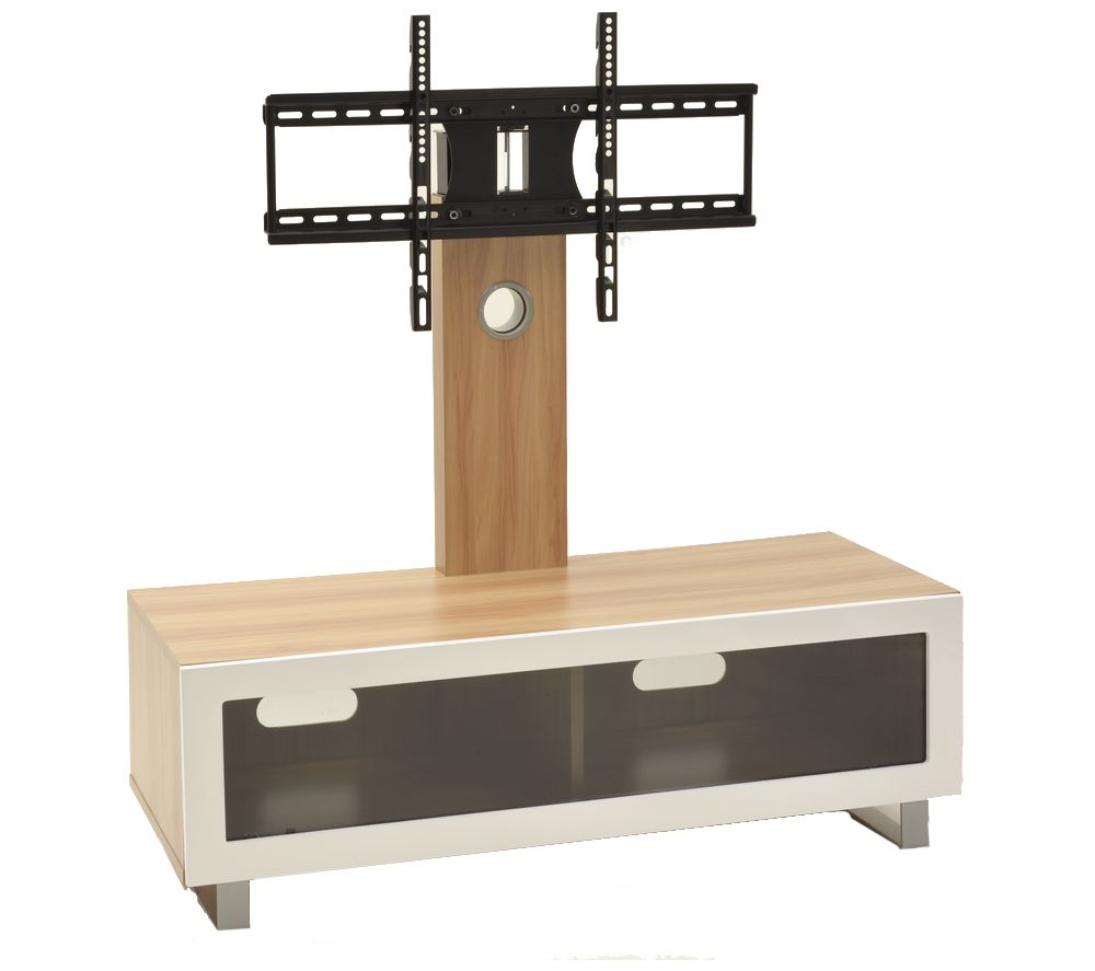 buy ttap tvs1001 tv stand with bracket light oak free delivery currys. Black Bedroom Furniture Sets. Home Design Ideas