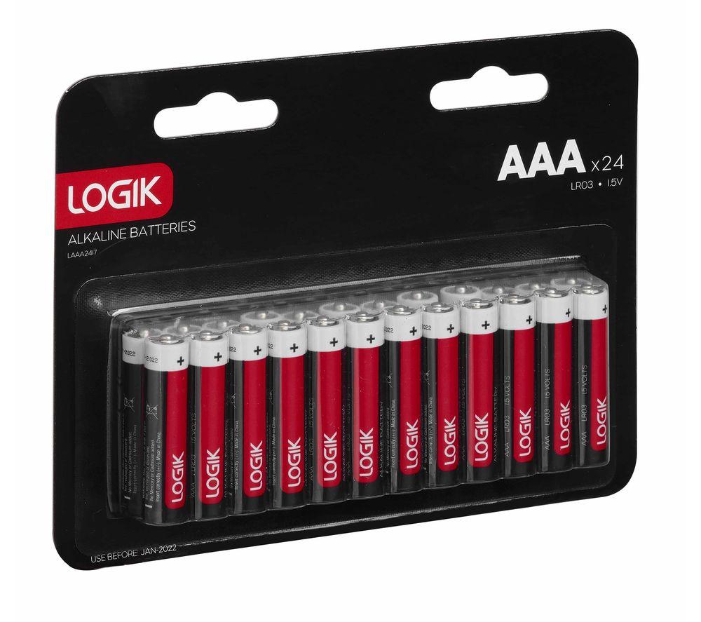 LOGIK LAAA2417 AAA Batteries - Pack of 24
