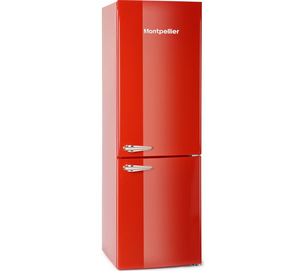 MONTPELLIER MAB365R Fridge Freezer - Red