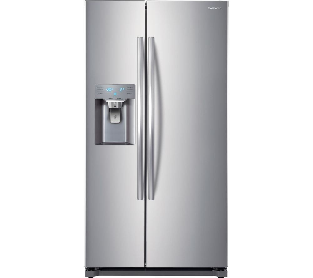 buy daewoo drzb53npes american style fridge freezer silver free delivery currys. Black Bedroom Furniture Sets. Home Design Ideas