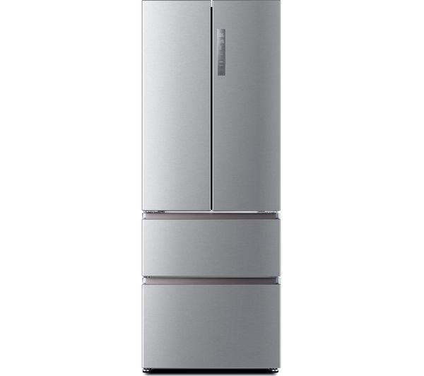 Image of HAIER HB16FMAA 60/40 Fridge Freezer - Stainless Steel