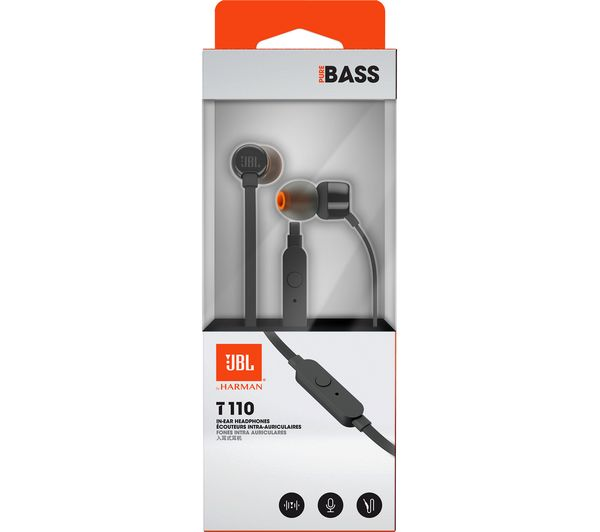 Buy JBL T110 Headphones - Black  a60de793cf