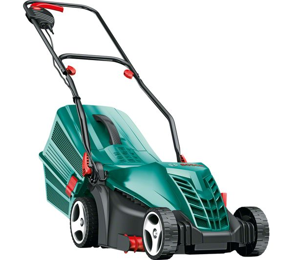 buy bosch rotak 34 r corded rotary lawn mower green free delivery currys. Black Bedroom Furniture Sets. Home Design Ideas