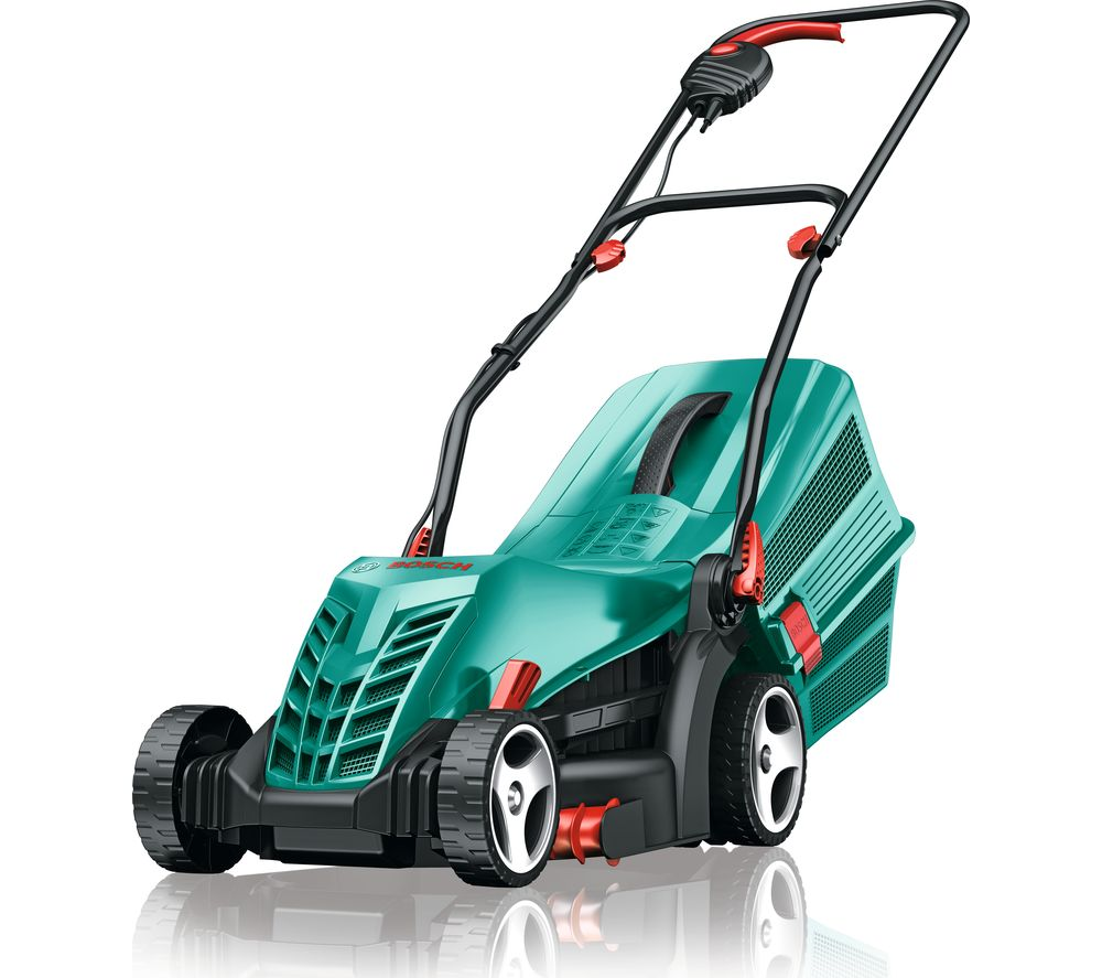 BOSCH Rotak 34 R Corded Rotary Lawn Mower - Green
