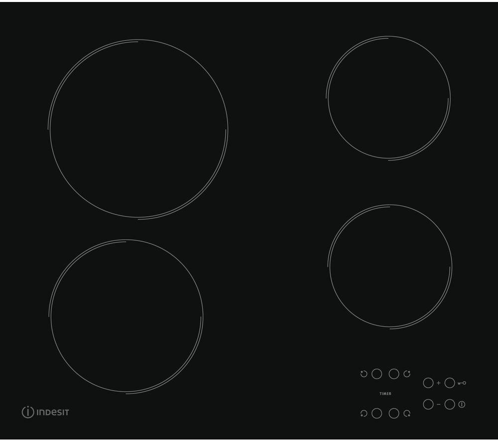 INDESIT RI 161 C Hob Electric Ceramic Hob - Black, Black