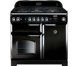 RANGEMASTER Classic 100 Gas Range Cooker - Black & Chrome