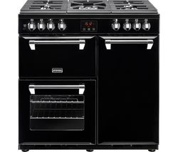 Ellingwood 90DFT Dual Fuel Range Cooker - Black & Chrome