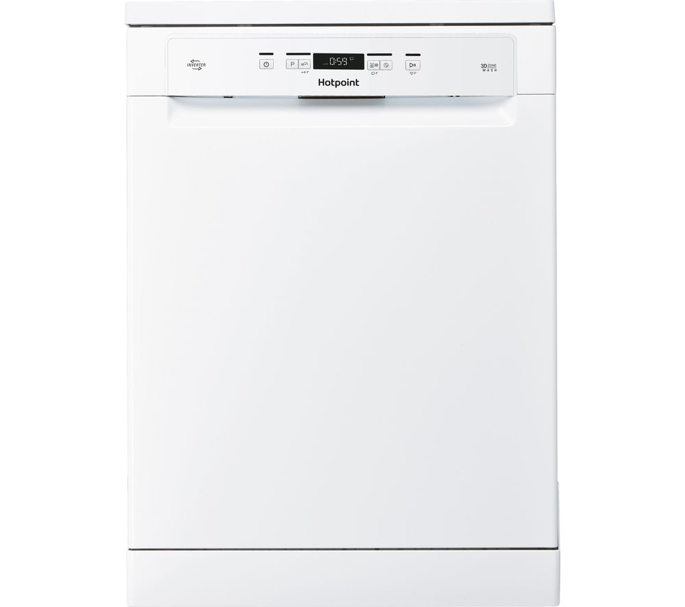 HOTPOINT HFC 3C26 W UK Full-size Dishwasher - White, White