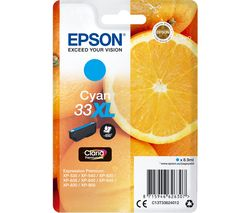 EPSON No. 33 Oranges XL Cyan Ink Cartridge
