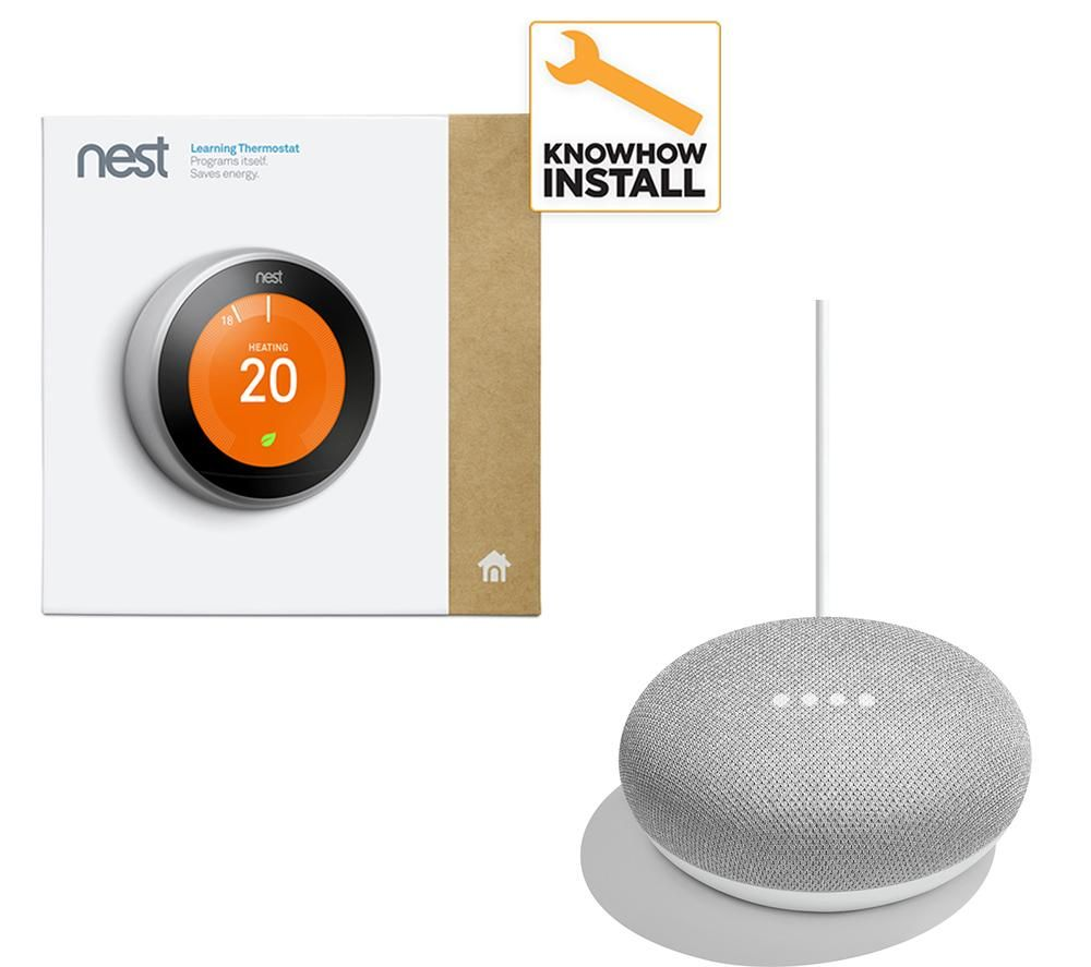 Compare prices for Nest Learning Thermostat and Installation and Home Mini Bundle