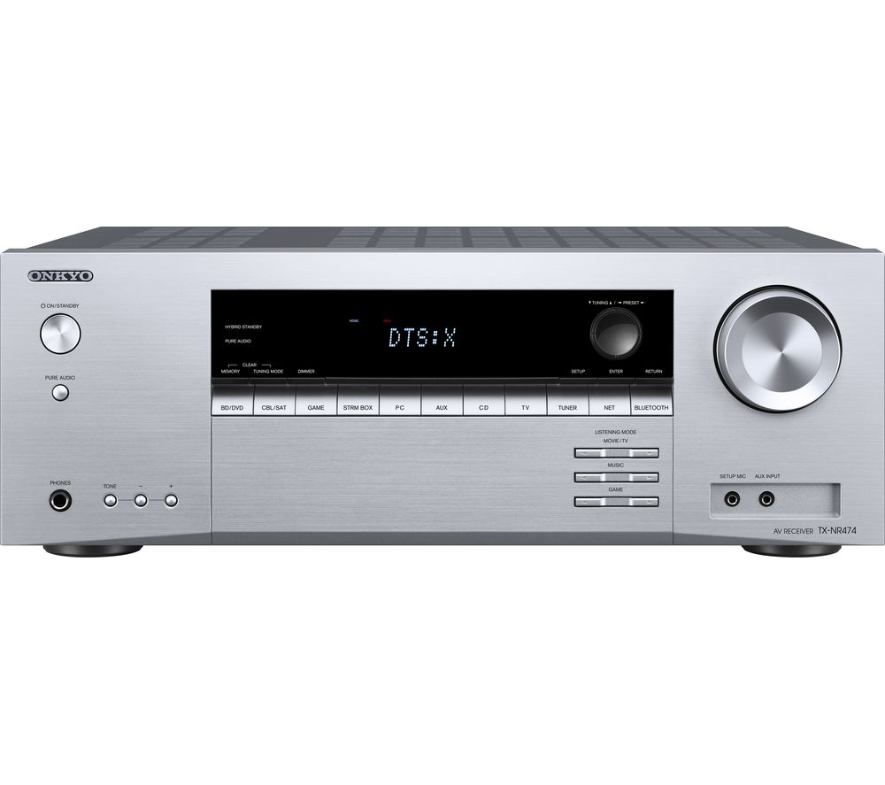 ONKYO TX-NR474 5.2 Wireless Network AV Receiver - Silver