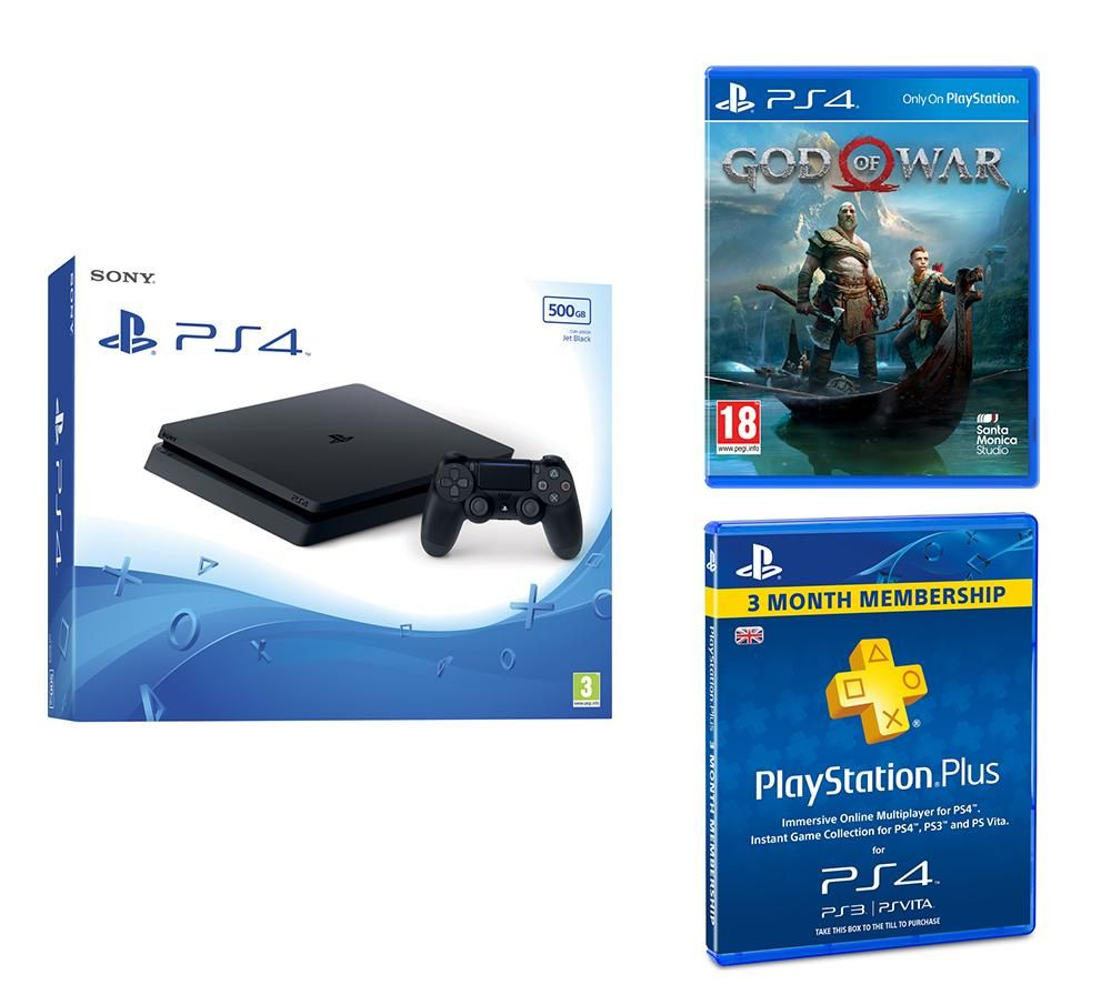 PlayStation 4 Slim, God Of War & Plus Subscription Bundle