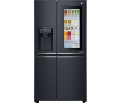 LG Instaview GSX961MTAZ American-Style Smart Fridge Freezer - Black Steel