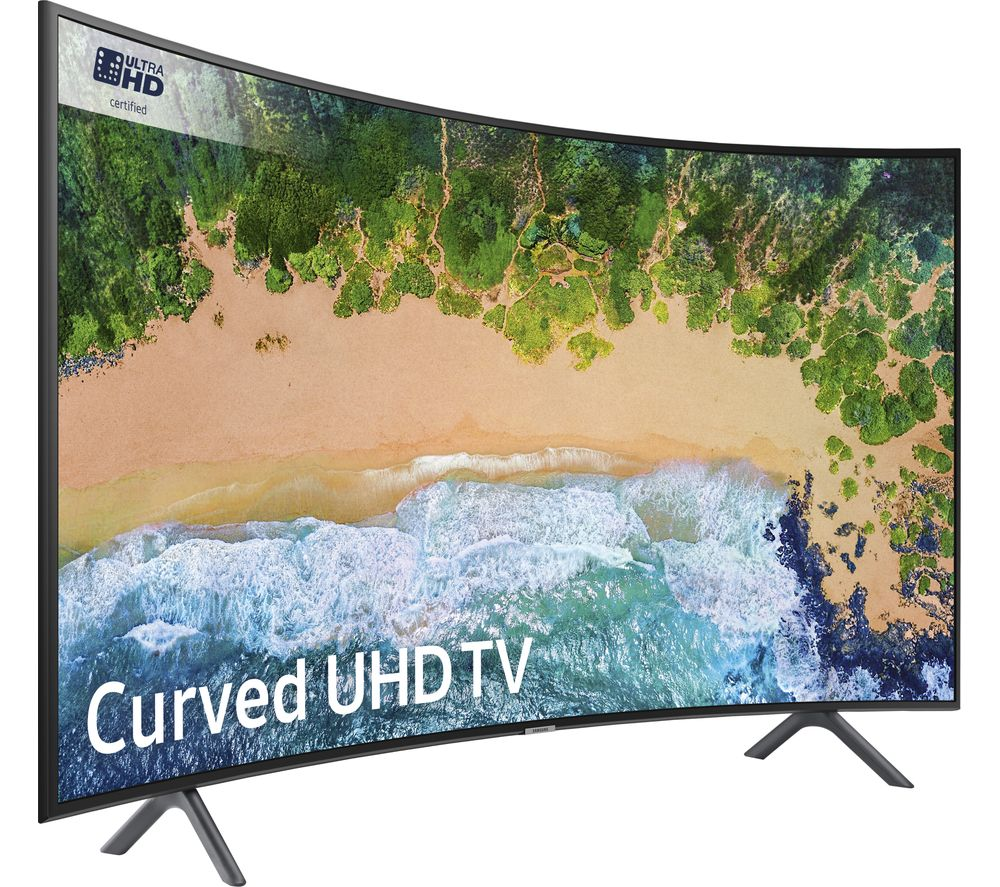 "SAMSUNG UE49NU7300 49"" Smart 4K Ultra HD HDR Curved LED TV + Sound+ HW-MS650 3.0 All-in-One Sound Bar"