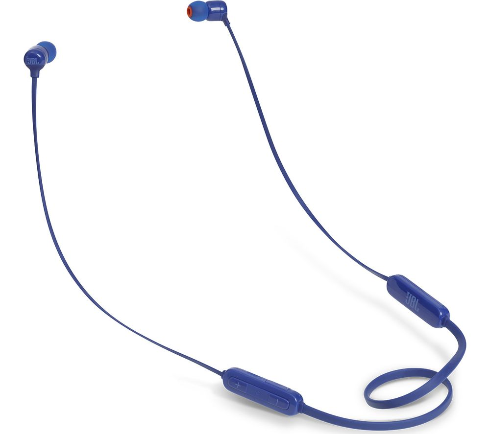 JBL T110BT Wireless Bluetooth Headphones - Blue