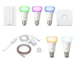 PHILIPS Hue White & Colour Ambiance E27 Smart Bulb Starter Kit