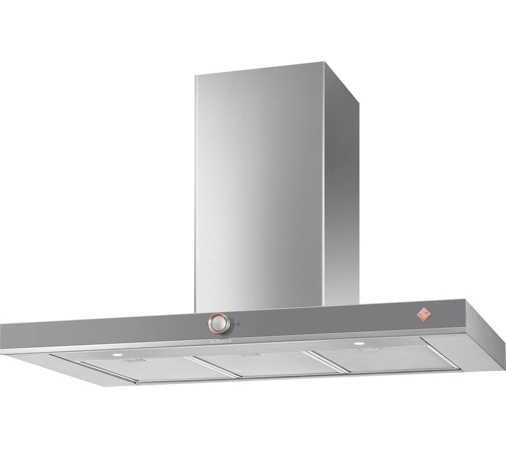 DE DIETRICH DHB7952G Chimney Cooker Hood - Grey, Grey