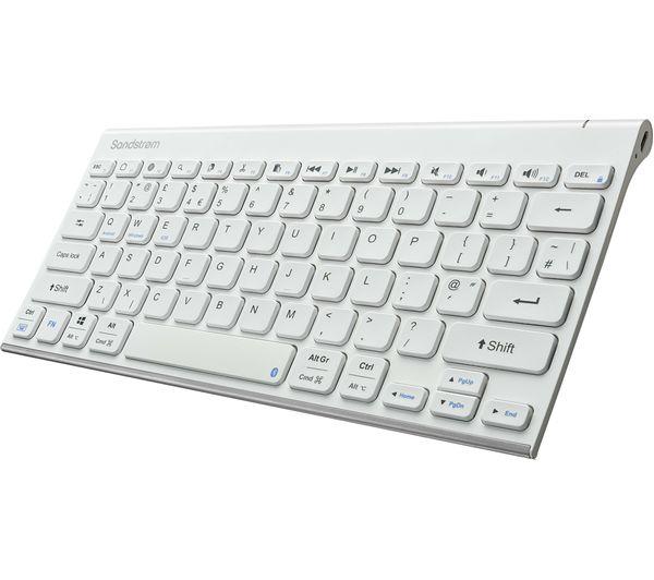 buy sandstrom skbwhbt19 wireless keyboard free delivery currys. Black Bedroom Furniture Sets. Home Design Ideas