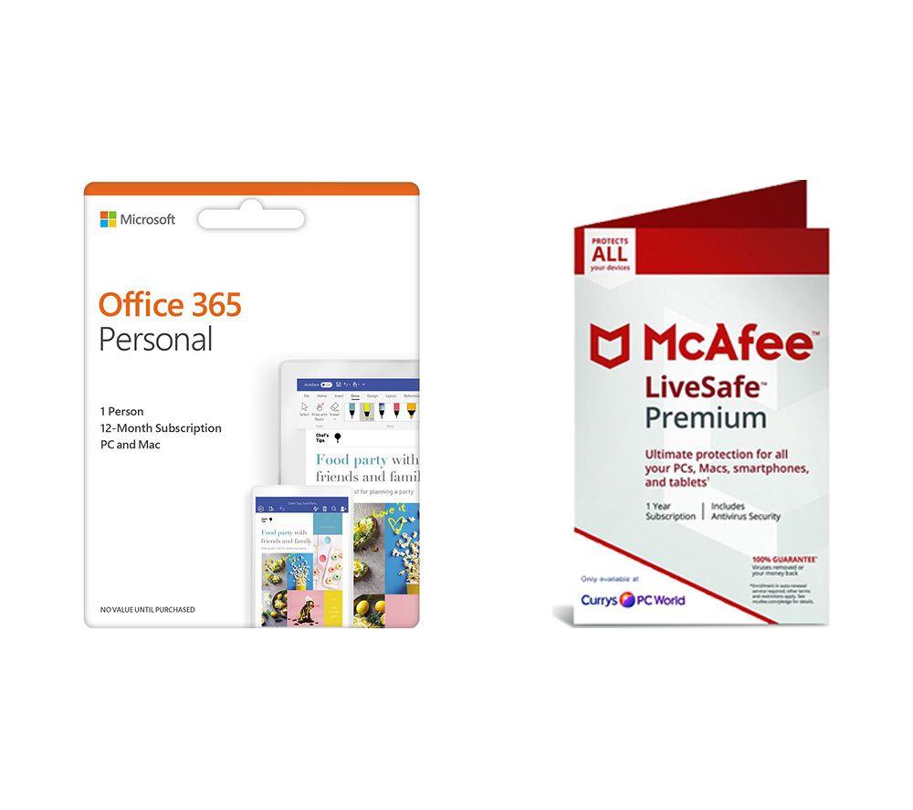 MICROSOFT Office 365 Personal & LiveSafe Premium 2019 Bundle