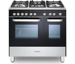 KENWOOD CK405G-1 90 cm Gas Range Cooker - Black & Chrome