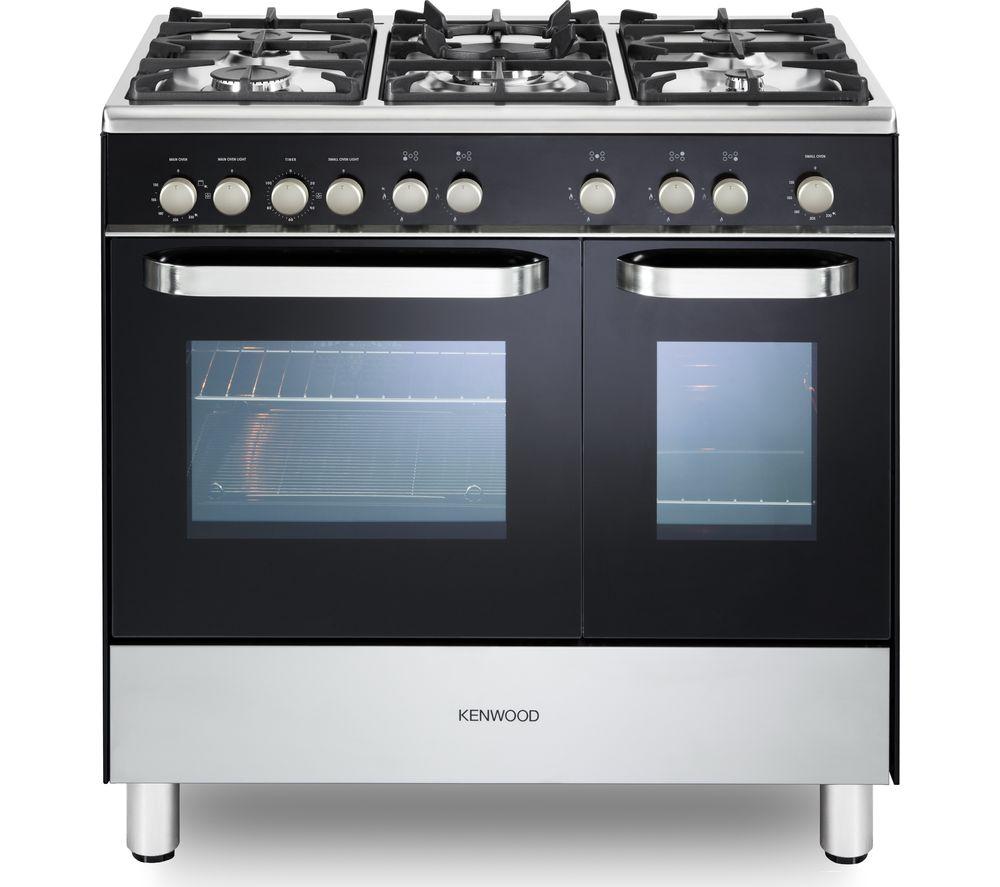 KENWOOD CK405G-1 90 cm Gas Range Cooker - Black & Chrome, Black